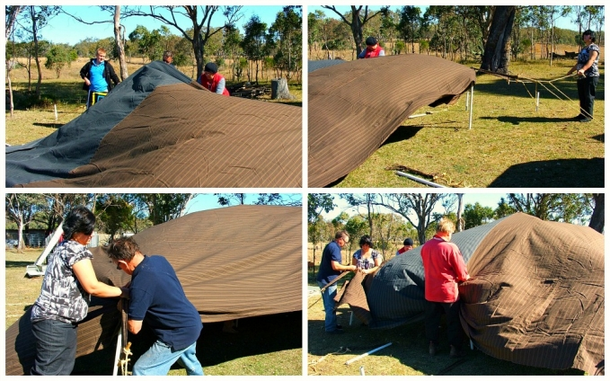 how to erect a Bedouin tent